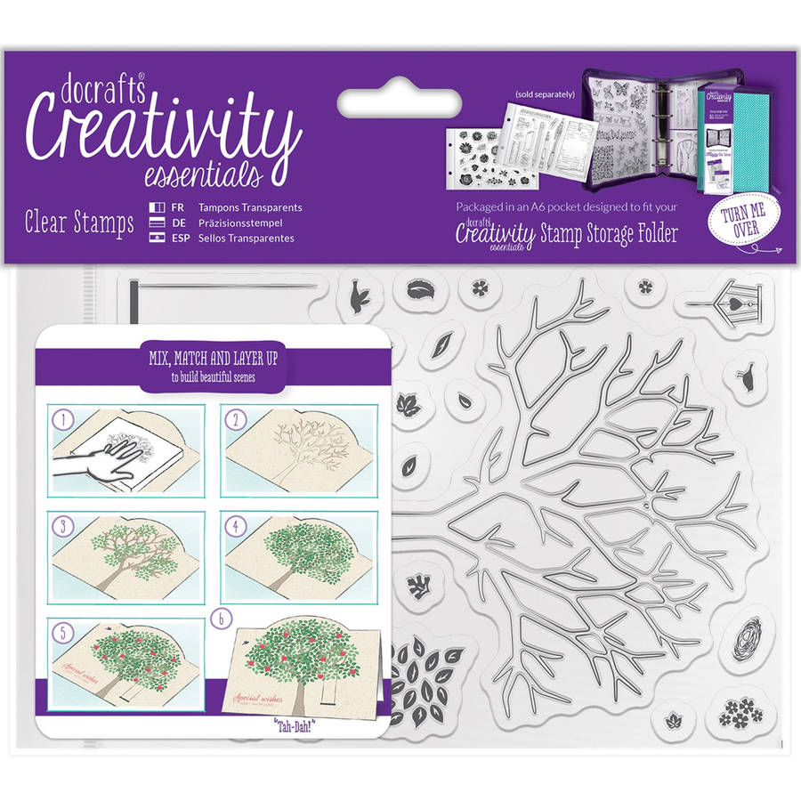 Creativity Essentials A6 Clear Stamps