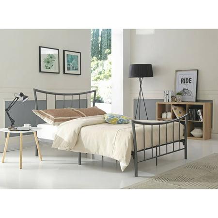 Hodedah Twin Metal Bed Charcoal