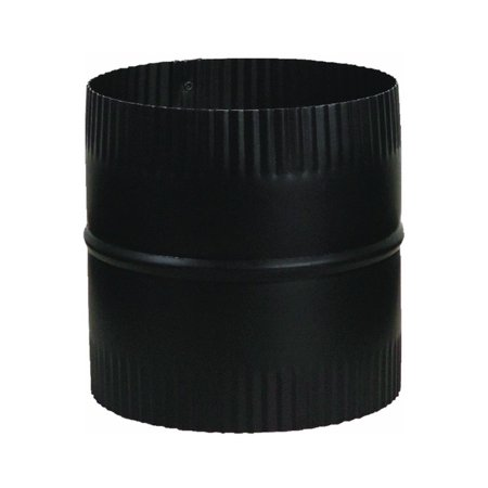 "Mfg Group Usa BM0047 Stove Pipe Starter Joint, Black, 24-Ga., 6 x 6-In. 6"""