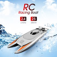 RC Boats for Kids Adult 25KM/H High Speed Racing Boat 2 Channels Remote Control Boats for Pools Racing Boat