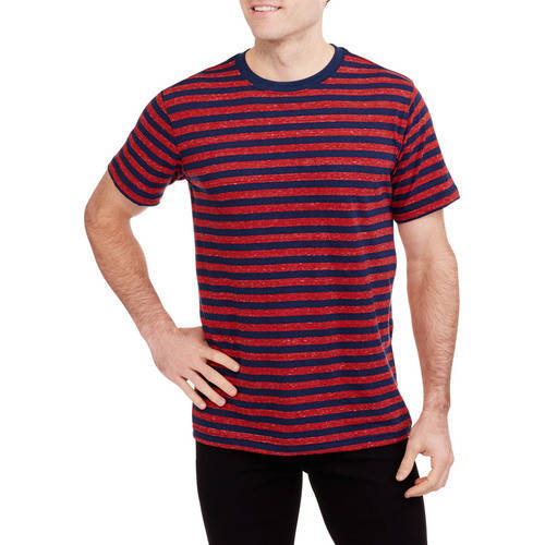 Faded Glory Men's Short Sleeve Stripe Crew Tee by
