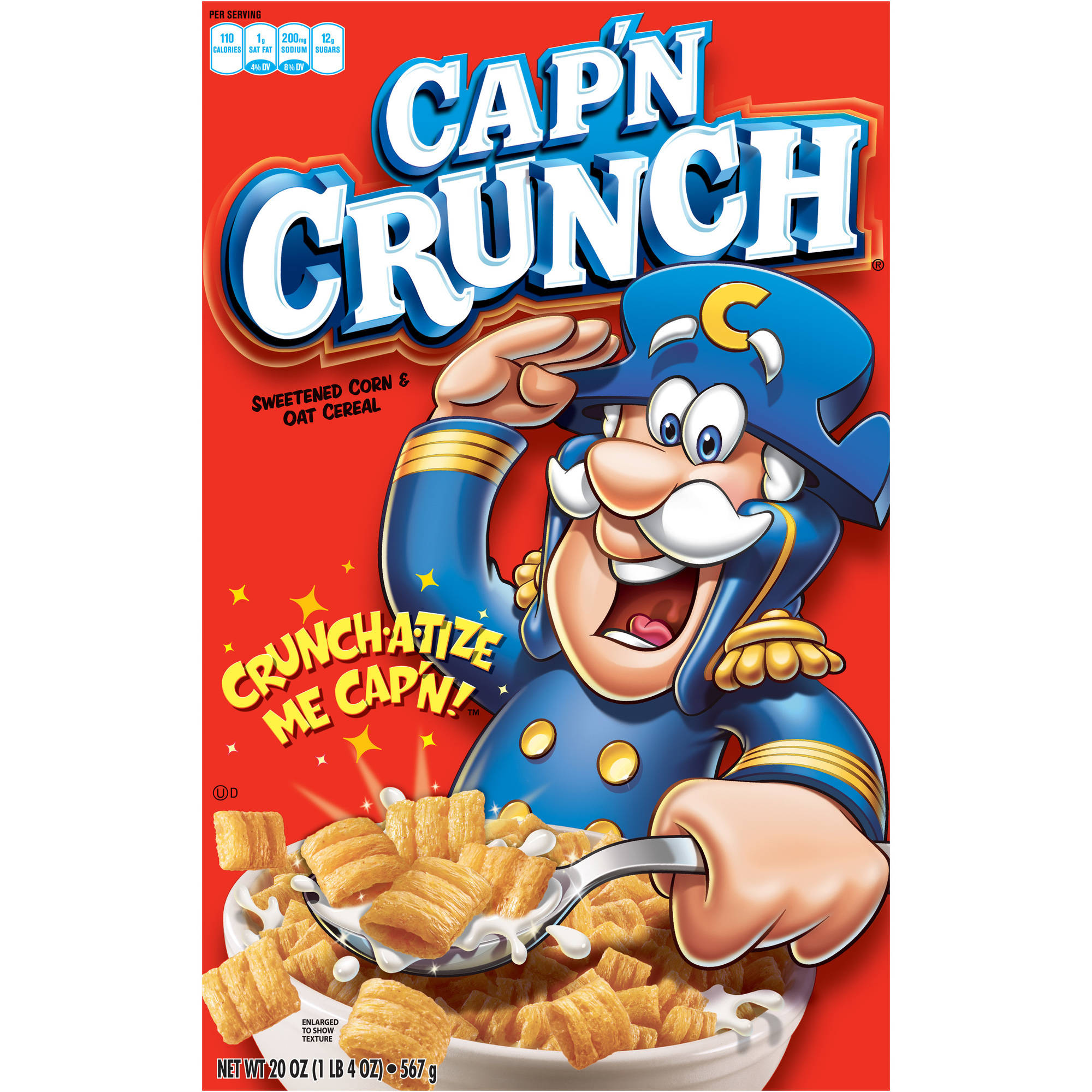Quaker Cap'n Crunch Original Cereal, 20 oz