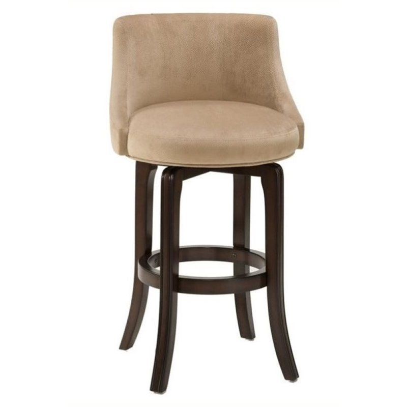 "Bowery Hill 30"" Swivel Bar Stool in Khaki - image 1 of 1"