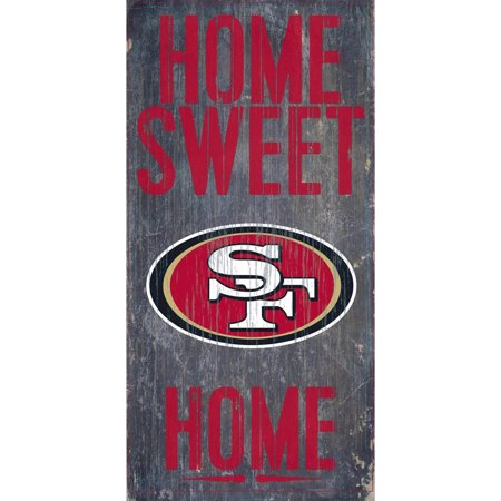 San Francisco 49ers 6'' x 12'' Home Sweet Home Sign - No