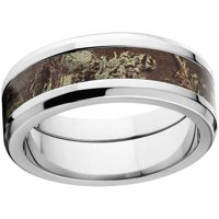Max 1 Men's Camo Stainless Steel Ring with Polished Edges and Deluxe Comfort Fit