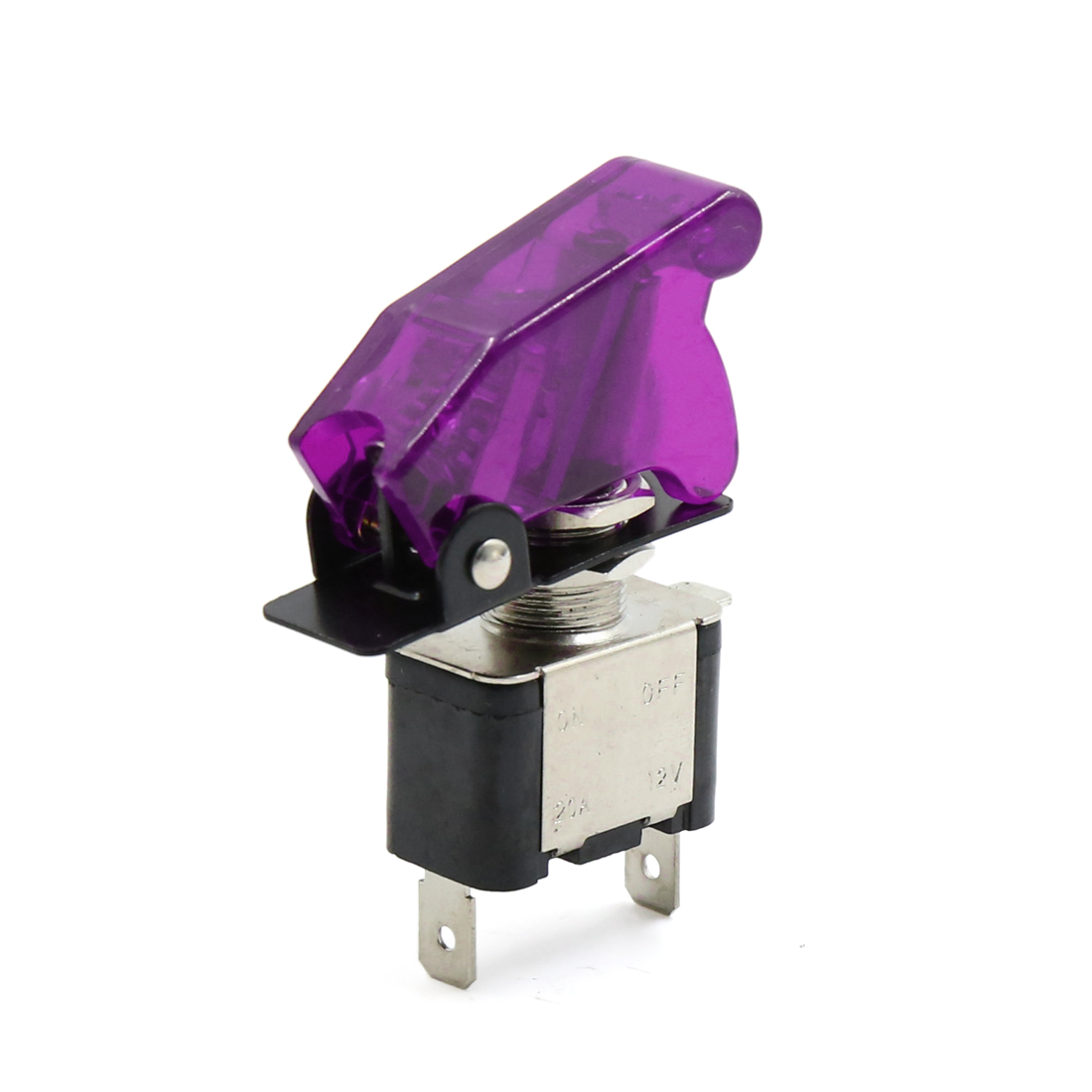 Universal DC 12V Purple Safety Cover SPST Toggle ON/OFF Control Switch w Light - image 3 of 3