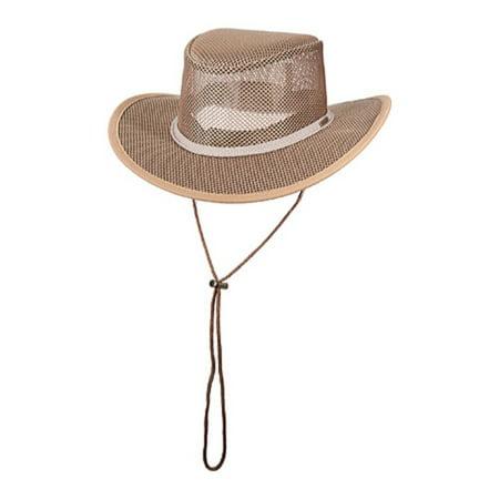 new stetson mesh covered safari cap (s - (Stetson Linen Cap)