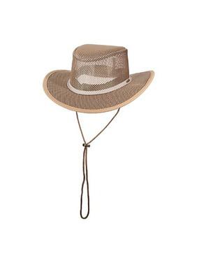 New Stetson Mesh Covered Safari Cap (S - Black)