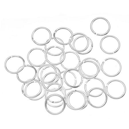 Beadaholique JR/040X8/S 100-Piece Open Jump Rings, 8mm, Silver ()