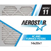 Aerostar 14x20x1 MERV 11, Air Filter, 14x20x1, Box of 6