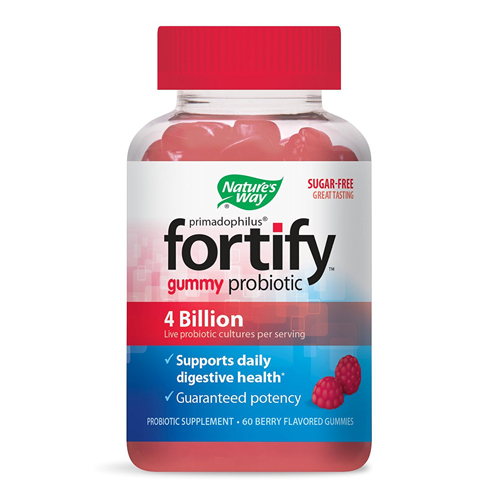 Natures Way Fortify Probiotic Berry Flavored Gummies, 60 Ea