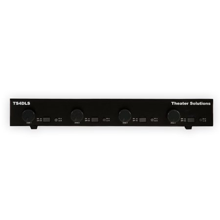 Theater Solutions TS4DLS Dual Input 4 Zone Speaker Selector Box Volume Controls