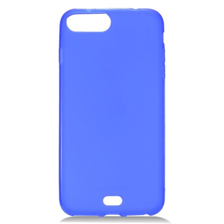 Insten Frosted TPU Rubber Candy Skin Case Cover for Apple iPhone 8 Plus / iPhone 7 Plus - Blue