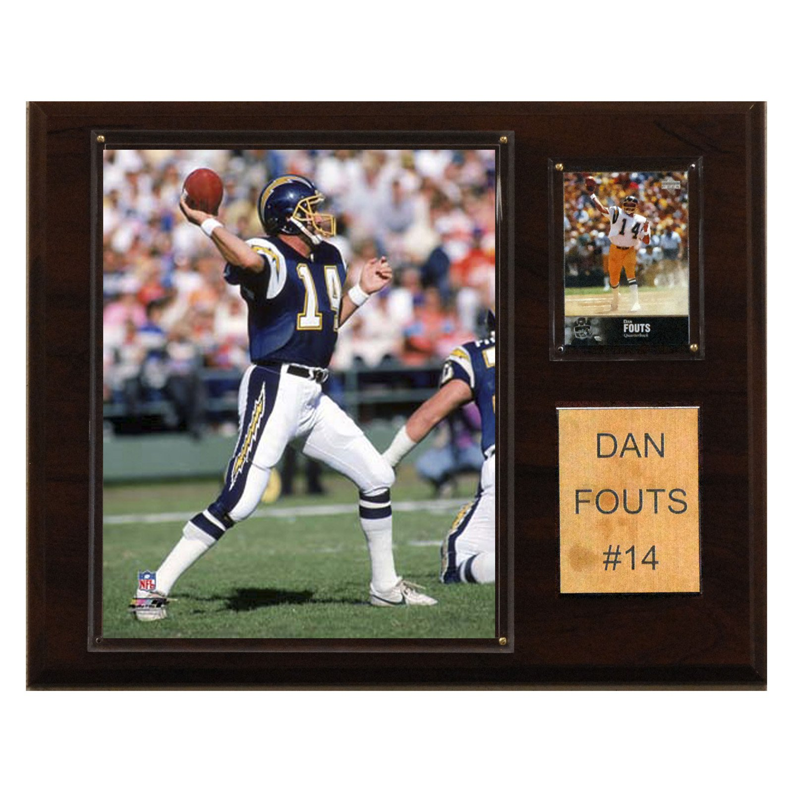 C&I Collectables NFL 12x15 Dan Fouts San Diego Chargers Player Plaque