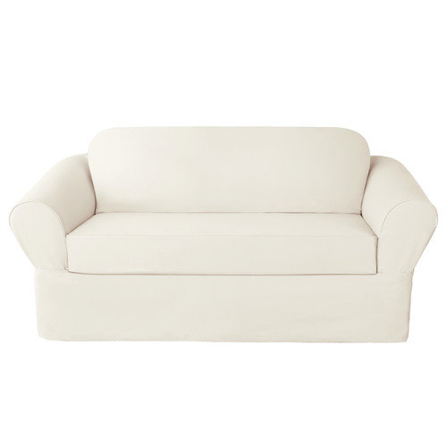 Sure Fit Twill Supreme Two Piece Loveseat Slipcover