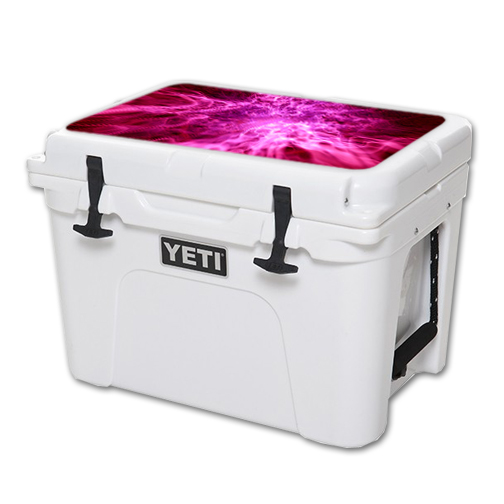 MightySkins Protective Vinyl Skin Decal for YETI Tundra 35 qt Cooler Lid wrap cover sticker skins Red Mystic Flame