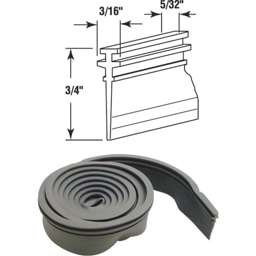 Slide-Co 19672 Shower Door Bottom Seal, 36-Inch