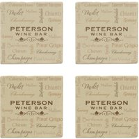 Personalized Wine Talk Marble Coasters