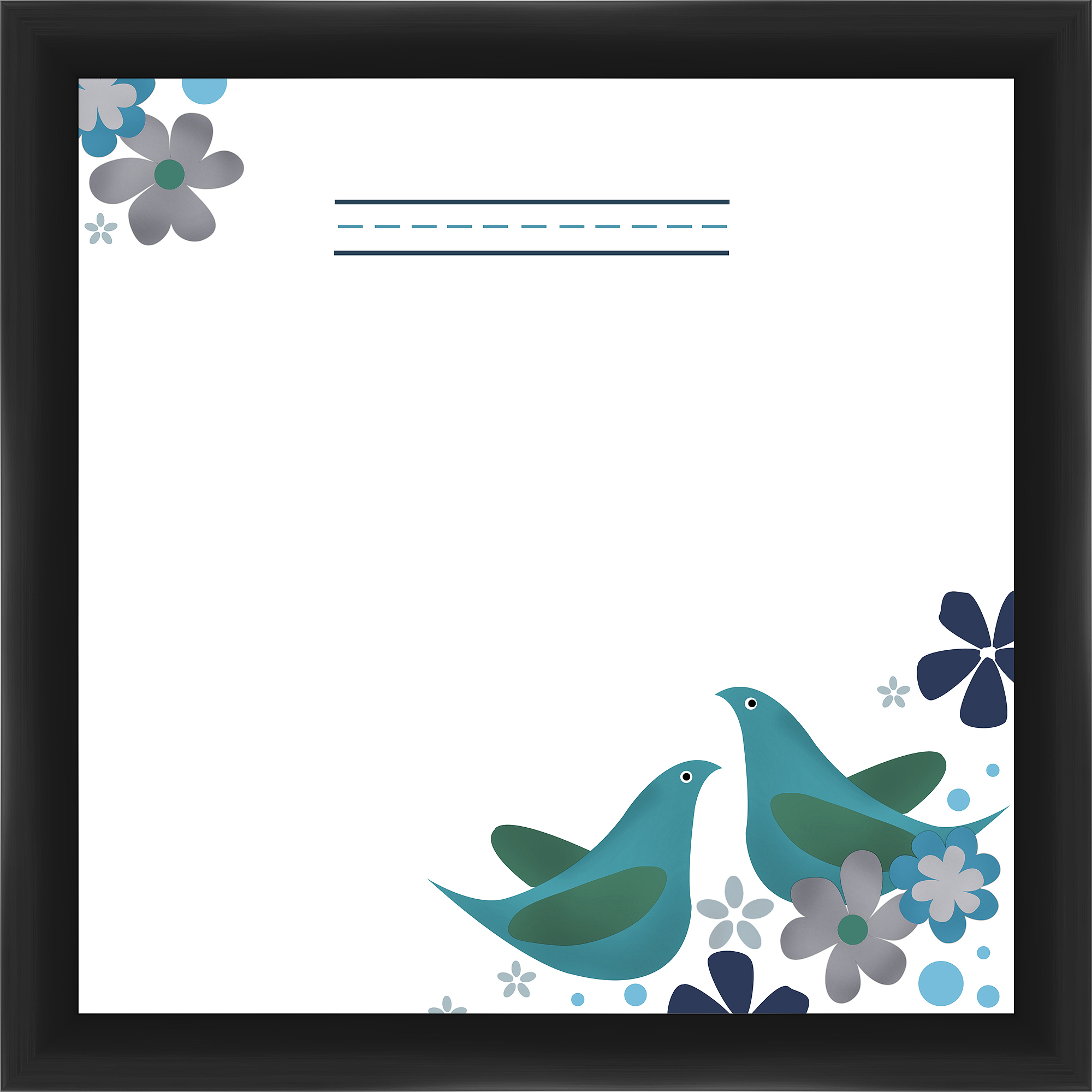Blue Birds I Memoboard