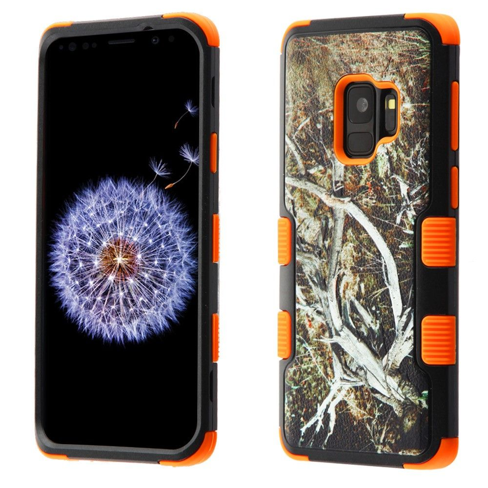 Samsung Galaxy S9 Case, by Insten Tuff Vines Dual Layer [Shock Absorbing] Hybrid Brushed Hard Plastic/Soft TPU Rubber Case Phone Cover For Samsung Galaxy S9, Multi-Color - image 5 de 5