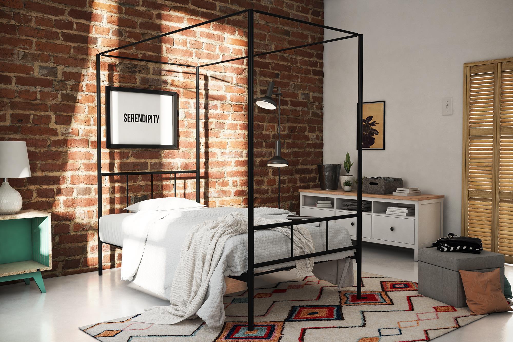 . Novogratz Marion Canopy Bed  Twin  Black