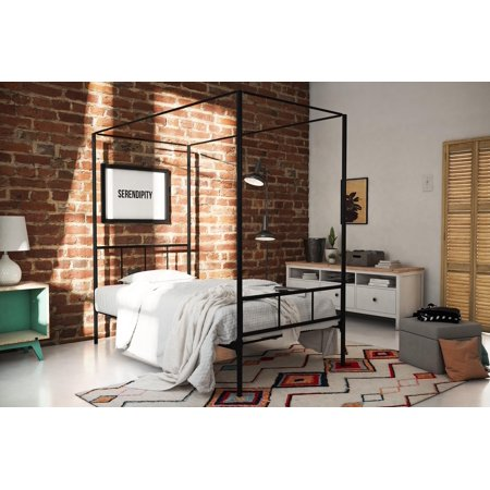 Novogratz Marion Canopy Bed, Twin, Black ()