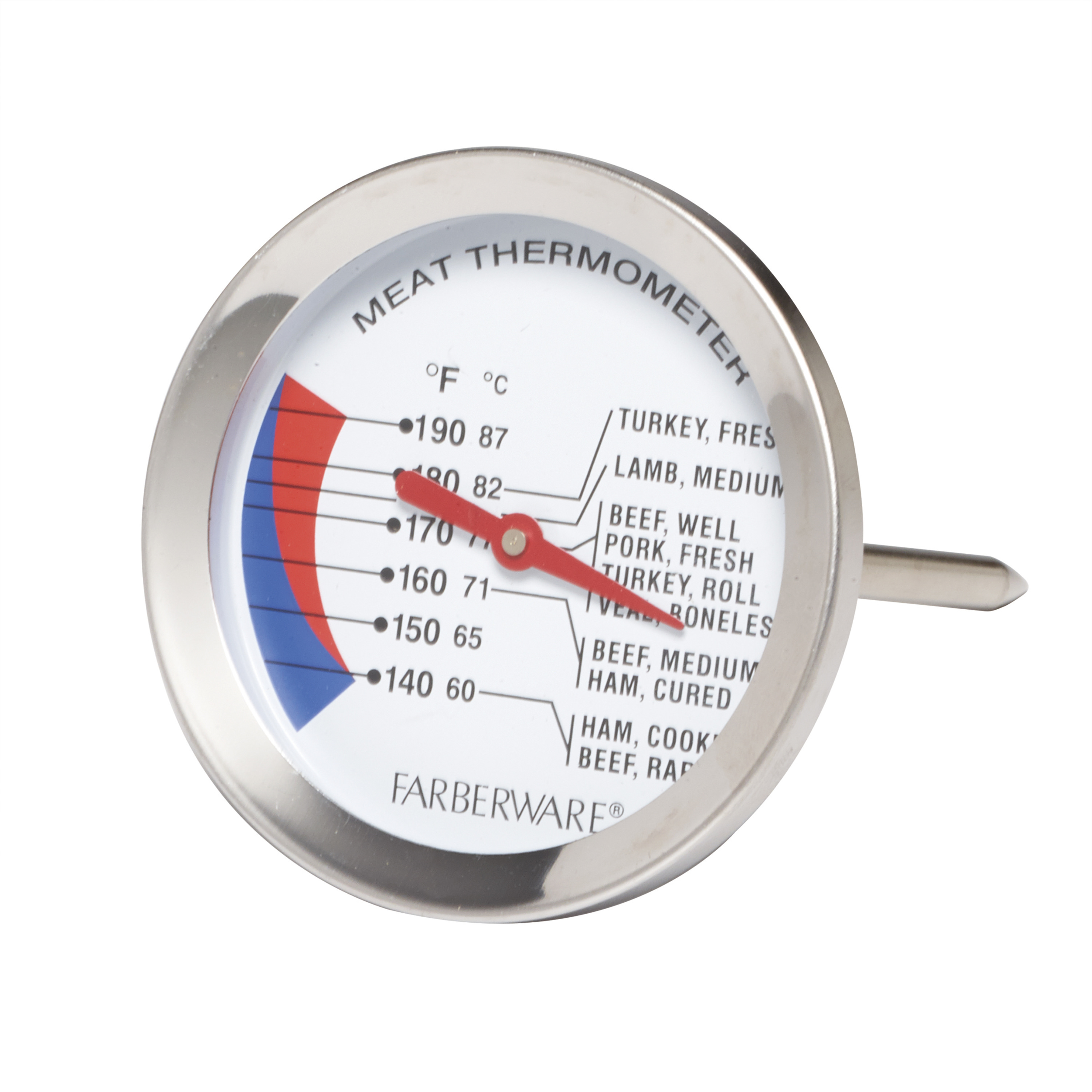 Farberware Protek Large Stainless Steel Meat Thermometer