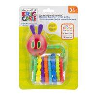 In The World Of Eric Carle The Very Hungry Caterpillar Rattle Teether With Links 3+m, 1.0 CT