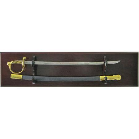 Sword Display Plaque Rack Holder Wall Rack, with Backboard, Alternative to Display Case (Sword Holder)