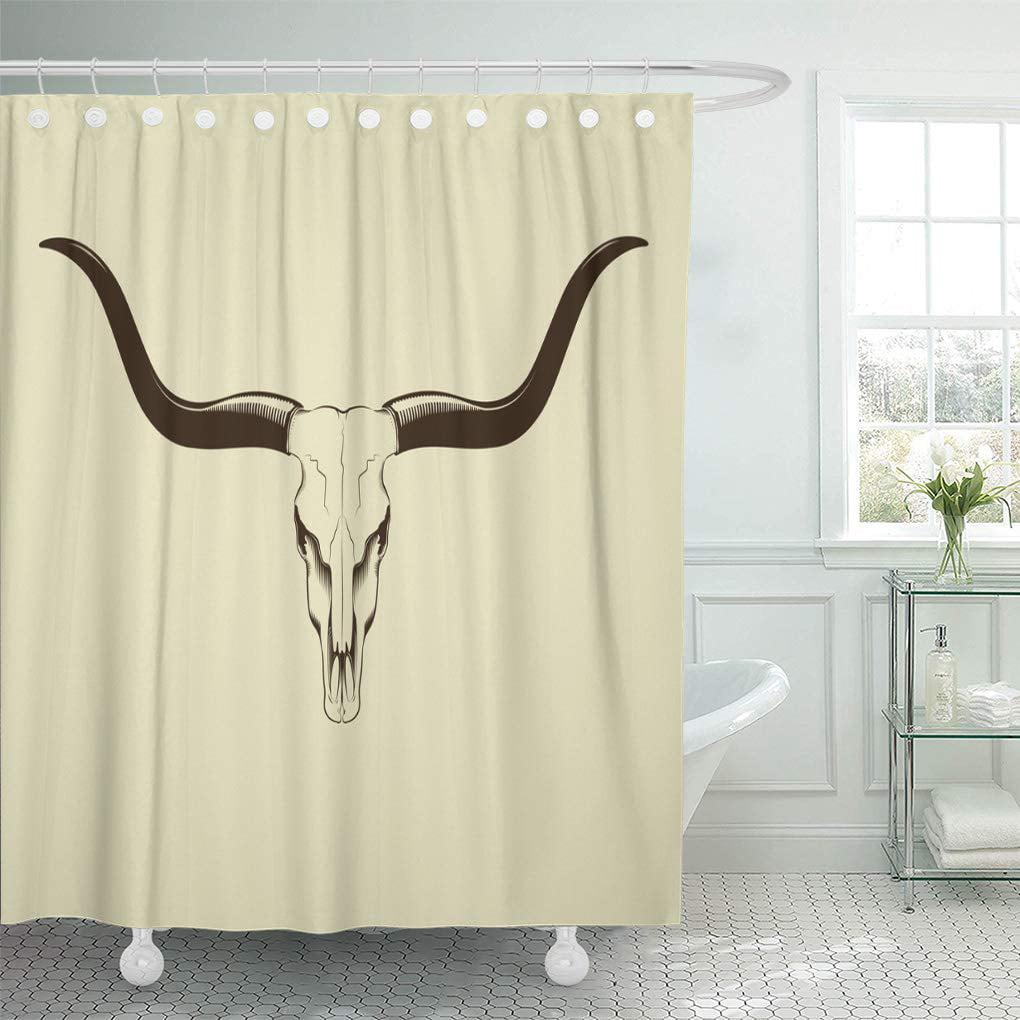 TEXAS LONGHORNS Fabric Shower Curtain IN STOCK