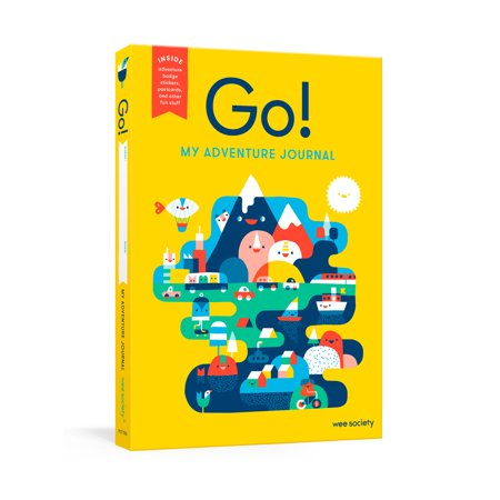 Kids Travel Diary - Go! (Yellow) : A Kids' Interactive Travel Diary and Journal