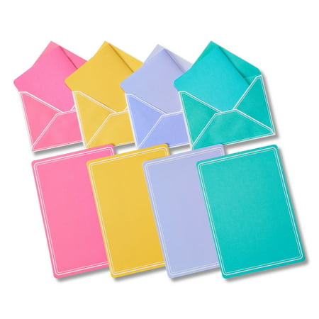 American Greetings Pastel Stationery Sheets and Colored Envelopes ...