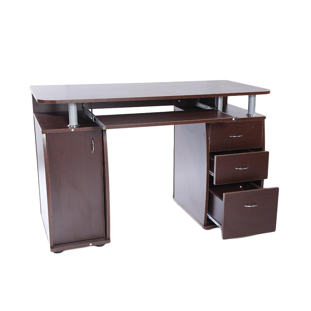 Workstation Writing Computer Desk Laptop Table Drawer Wood Office Home Furniture