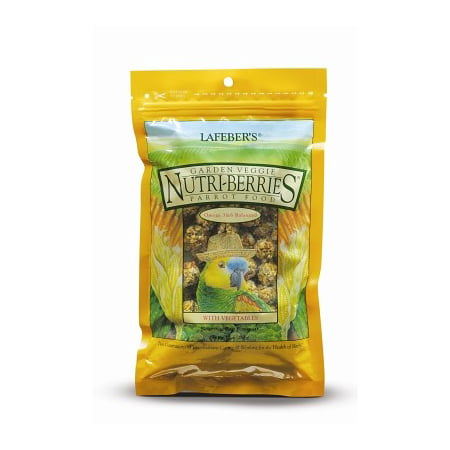Lafeber Nutri-Berries Garden Veggie Parrot Bird Food, 10 Oz
