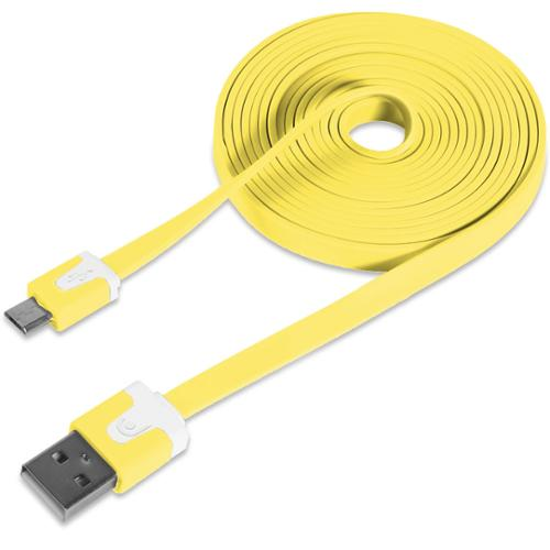 New Yellow Flat 2.1v Micro USB Cable Cord Wire for Samsung Galaxy S3 SIII 6 Feet