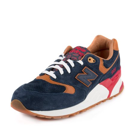 free shipping 1e206 50d4c New Balance Mens Sneaker Polotics ML 999 SP Navy Blue/Red-Brown ML999SP