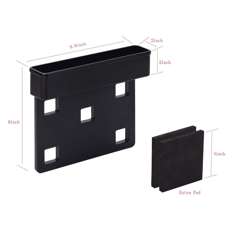 Set of 2 Car Organizer I-MART Console Side Pocket Car Seat Gap Filler Black