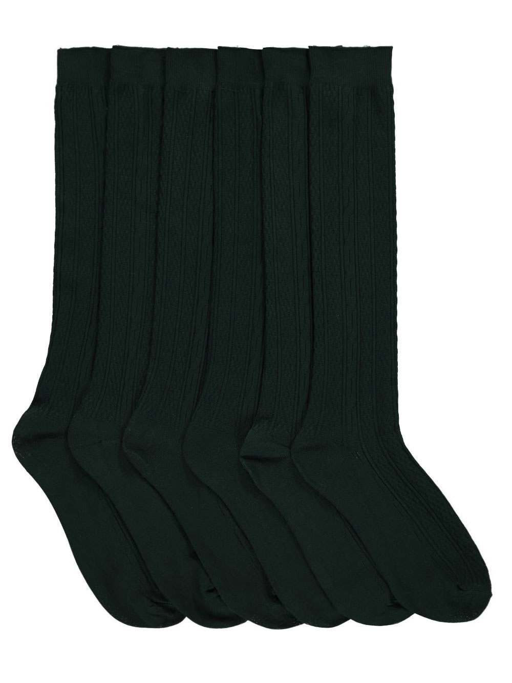 """Cookie's Brand """"Checker Cable"""" 3-Pack Dress Socks (Sizes 5 - 11)"""