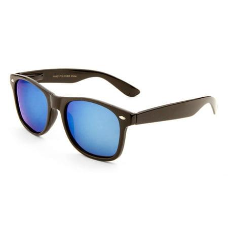 MLC Eyewear 'Alto' Retro Horn Rimmed Fashion Sunglasses in Black