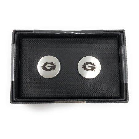 Engraved Vermeil Cufflinks (Georgia Bulldogs UGA Cuff Links Silver Cufflink)