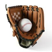 Baseball Glove Softball Glove Baseball Mitts Pitcher Left Hand Baseball Leather Outdoor Sports Softball Gloves Man Woman Training Practice Equipment Unisex Suit for Beginner