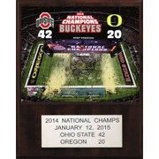 """C&I Collectibles NCAA Football  Ohio State Buckeyes 2011 BCS National Champions Plaque 12""""x15"""""""