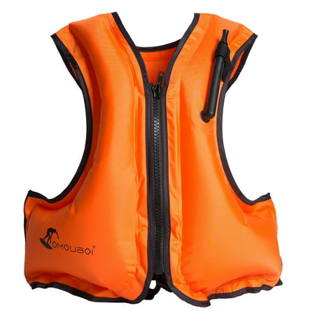 Adult Inflatable Swim Vest Life Jacket for Snorkeling Floating Device Swimming Drifting Surfing Water Sports Life Saving ()