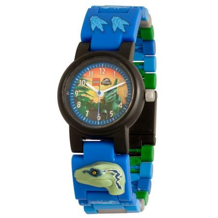 "Clic Time - LEGO Jurassic World Minifigure Link Watch, ""Blue"" Velociraptor"