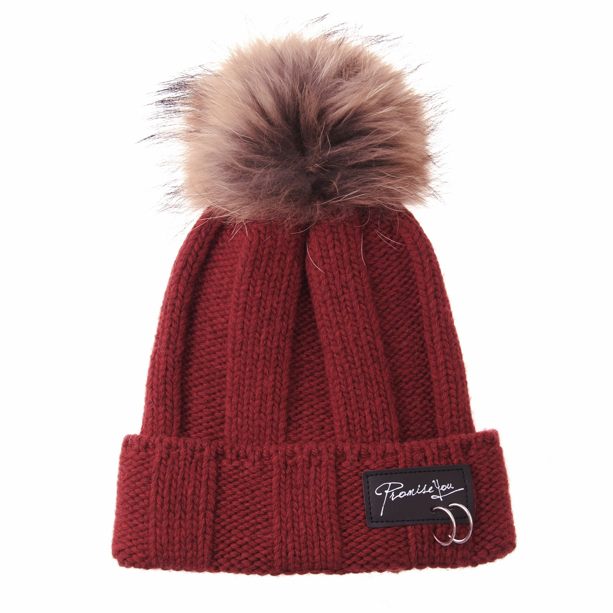 801319418fd WITHMOONS Knitted Real Fur Pom Pom Beanie Hat Slouchy NC5838 (Black) -  Walmart.com