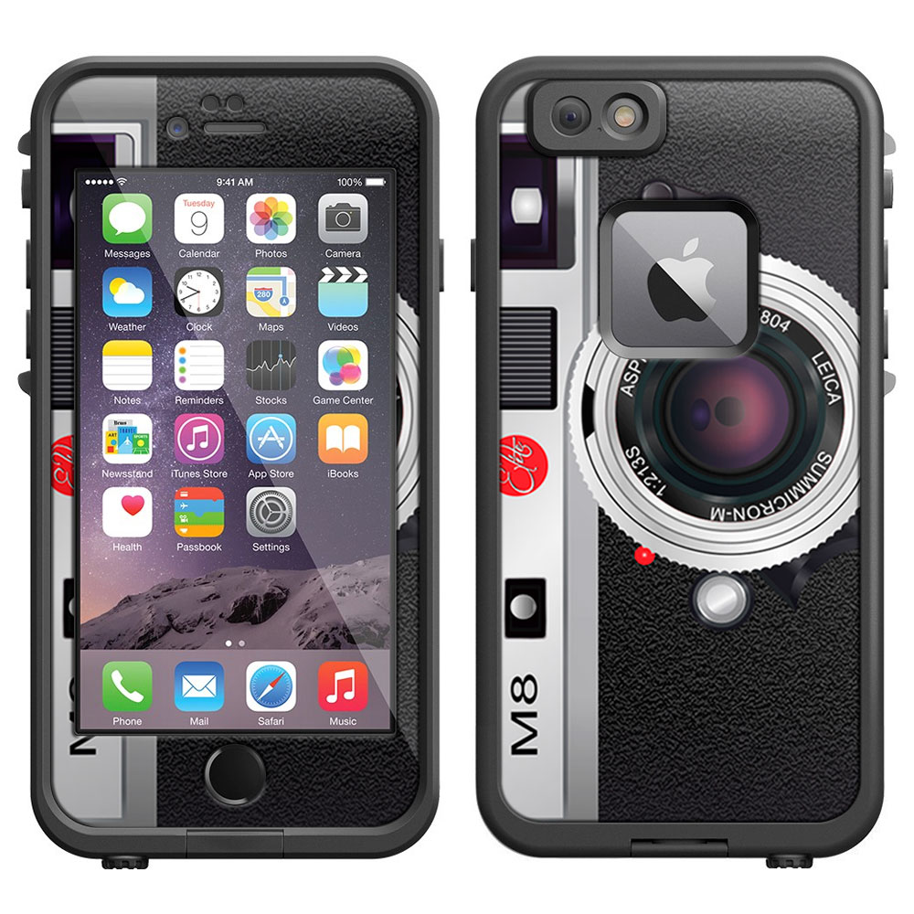 SKIN DECAL FOR LifeProof iPhone 6 Case - Vintage M8 Silver Camera DECAL, NOT A CASE