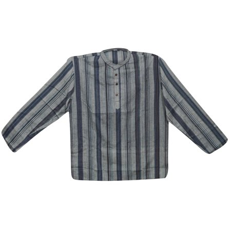 Mogul Mens Ethnic Indian Fashion Shirt Short Kurta Trendy Cotton Tunic Traditional Apparel