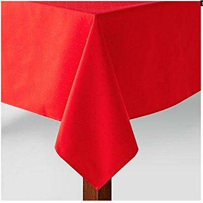 """Kate Spade New York Cranberry Red Larabee Dot Fabric Tablecloth (70"""" x 104"""" Oblong / Rectangle)"""