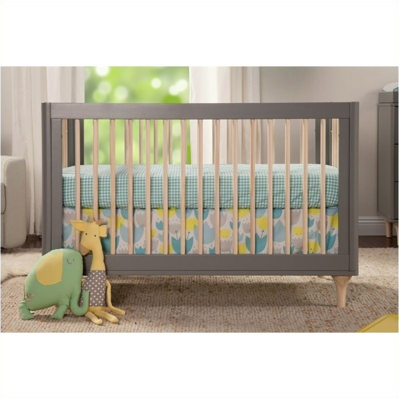 Bowery Hill 3-in-1 Convertible Crib in Grey and Washed Natural