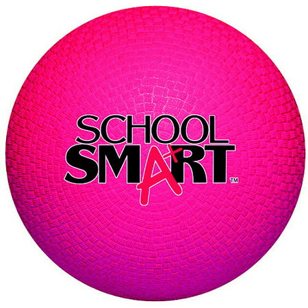 School Smart Rubber Playground Ball, Multiple Sizes, Red for $<!---->